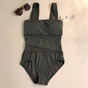 NWT Carmen Marc Valvo with mesh one piece Swimsuit